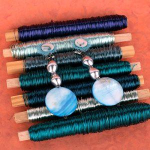 Pendientes Marmol Azul