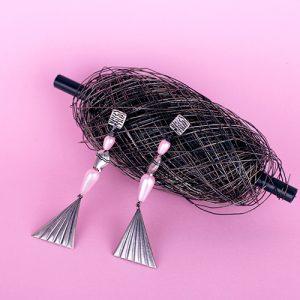 Pendientes pez rosado