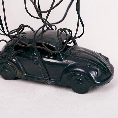 Lámpara coche siete luces
